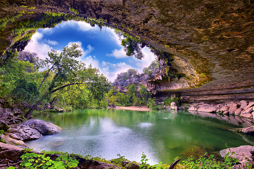 Hamilton Pool Doğal Koruma Alanı - Teksas